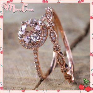 🍒 ROSE Gold Ring Set